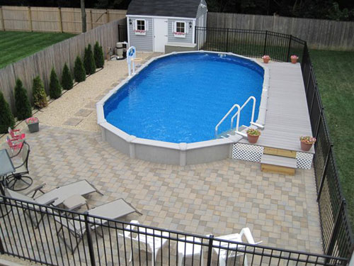 We install the highest quality above ground pools or semi for Above ground swimming pools prices