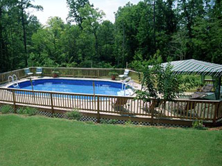 We install the highest quality above ground pools or semi for Above ground pool decks nj