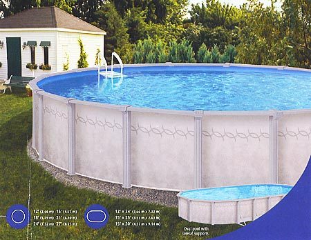 Dove Grey Pool in oval or round