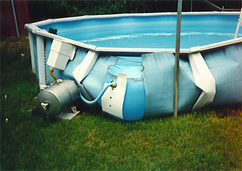 Above Ground Pool Wall Split Open Damages